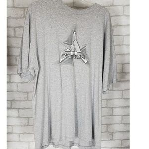 .Adidas Gray Tshirt With Adidas Logo On Front XL